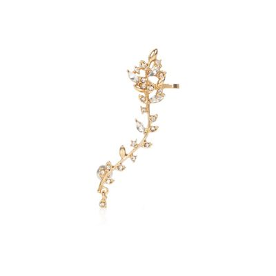 Gold tone leaf ear cuff