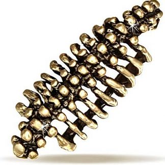 Skeleton Spine - Ear Cuff i Mörkt Guld