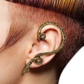 Sneaking Snake - Guld Ear Cuff